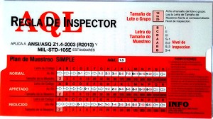AQL Inspector's Rule w/Manual ANSI/ASQ Z1.4 Spanish